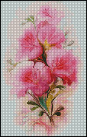 FLOWERS cross stitch pattern