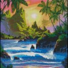 TROPICAL SUNSET cross stitch pattern