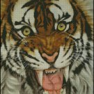 FIRECE TIGER cross stitch pattern