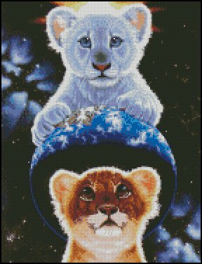 BIG CATS cross stitch pattern