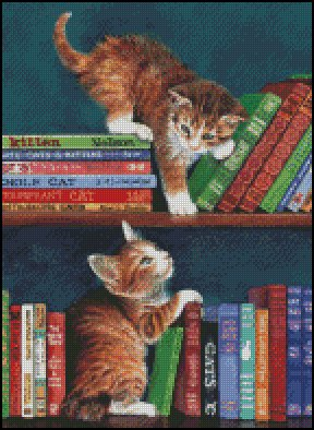 Kittens WHAT NOW? cross stitch pattern