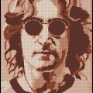JOHN LENNON cross stitch pattern