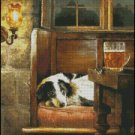 Dog WAITING cross stitch pattern