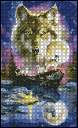 WOLF 3 cross stitch pattern