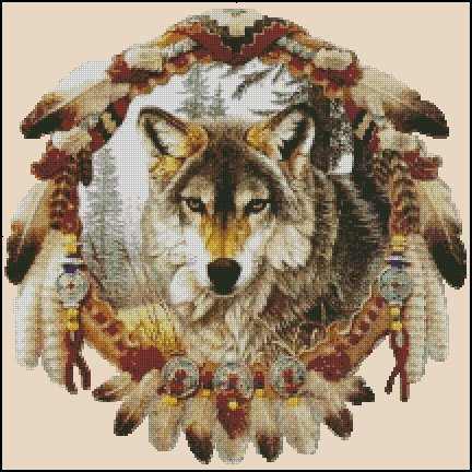 WOLF 2 cross stitch pattern
