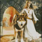 WOLF PRINCESS cross stitch pattern