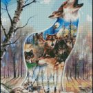 WOLF SONG cross stitch pattern
