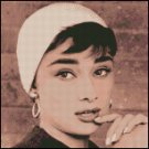 AUDREY HEPBURN 3 cross stitch pattern