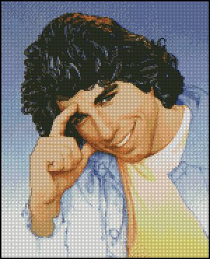 JOHN TRAVOLTA cross stitch pattern