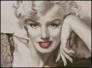 MARILYN MONROE #3 cross stitch pattern