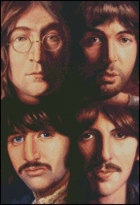 THE BEATLES cross stitch pattern No. 47