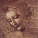 Leonardo da Vinci FEMALE HEAD cross stitch pattern