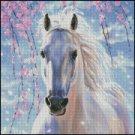 WHITE HORSE cros stitch pattern
