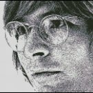 JOHN DENVER ink sketch cross stitch pattern