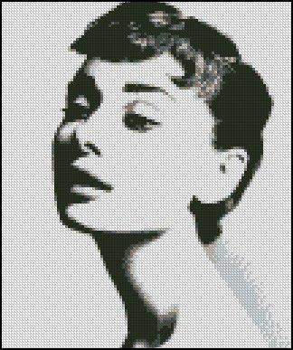 AUDREY HEPBURN #7 cross stitch pattern