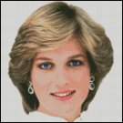 PRINCESS DIANA cross stitch pattern