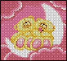 BEARS LOVE cross stitch pattern