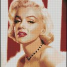 MARILYN MONROE #2 cross stitch pattern