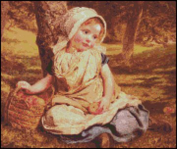 WINDFALLS Sophie Anderson cross stitch pattern