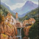 MOUNTAIN VIEW VUE DE KANDERSTEIN cross stitch pattern