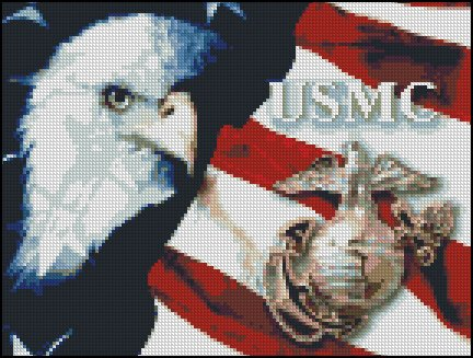 UNITED STATES MARINE CORPS cross stitch pattern