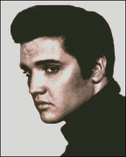 ELVIS PRESLEY 2 cross stitch pattern