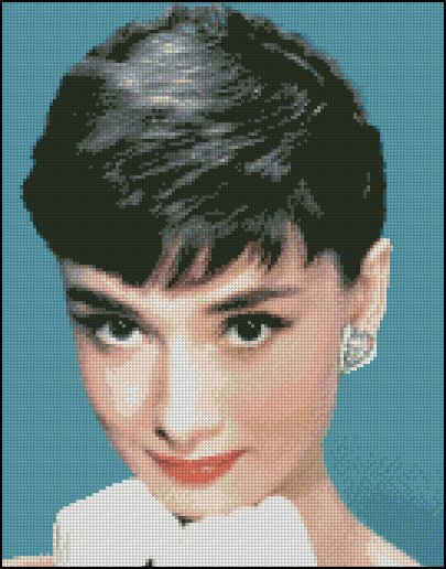 AUDREY HEPBURN 11 cross stitch pattern