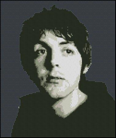 PAUL MCCARTNEY cross stitch pattern