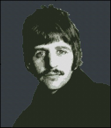 RINGO STARR cross stitch pattern