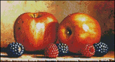 APPLES AND BERRIES cross stitch pattern