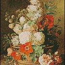A BASKET OF FLOWERS cross stitch pattern