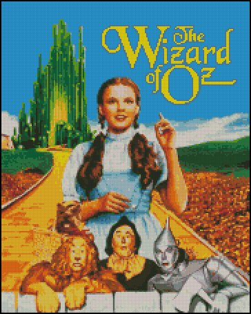 WIZARD OF OZ #1 cross stitch pattern