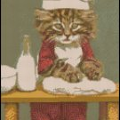 Vintage BAKER KITTY cross stitch pattern