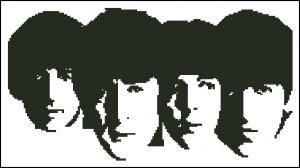 THE BEATLES 3 cross stitch crochet knitting pattern