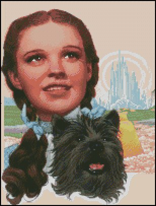 WIZARD OF OZ #3 cross stitch pattern