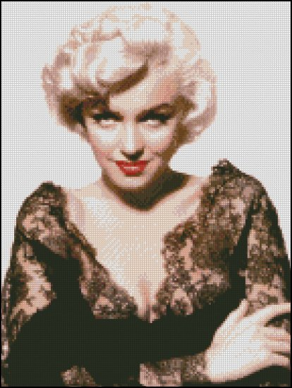 MARILYN MONROE 13 cross stitch pattern