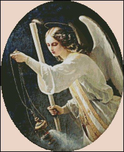 ANGEL cross stitch pattern