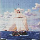 YACHT cross stitch pattern