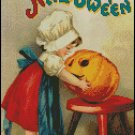 VINTAGE MERRY HALLOWEEN cross stitch pattern