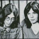 JOHN LENNON AND MICK JAGGER cross stitch pattern