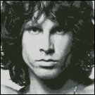 JIM MORRISON cross stitch pattern