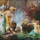 A WATER IDYLL cross stitch pattern