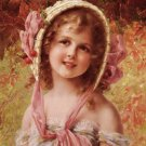 THE CHERRY BONNET cross stitch pattern