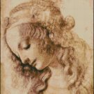 WOMAN'S HEAD da Vinci cross stitch pattern
