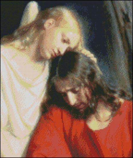 CHRIST AT GETHSEMANE cross stitch pattern