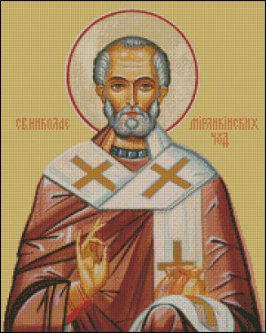ST NICHOLAS ICON cross stitch pattern