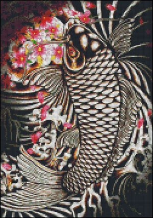 new 86 cross stitch koi pattern cross stitch pattren