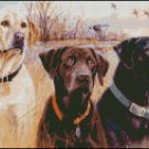 LABRADORS cross stitch pattern