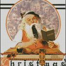SANTA AND HIS EXPENSE BOOK cross stitch pattern