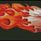 FLAMING EAGLE cross stitch pattern